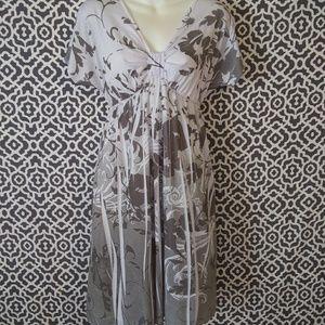 Espresso Short Sleeve Floral Dress Medium NWT
